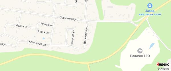 Дорожная улица на карте села Ильинки Хабаровского края с номерами домов
