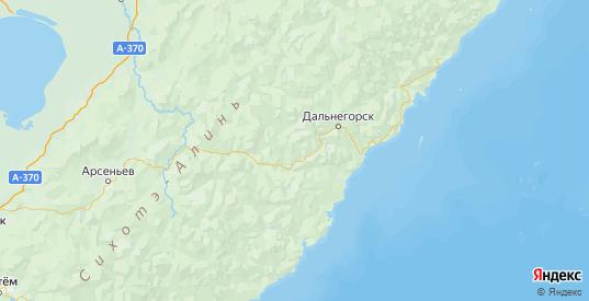 Карта Кавалеровского района Приморского края с городами и населенными пунктами