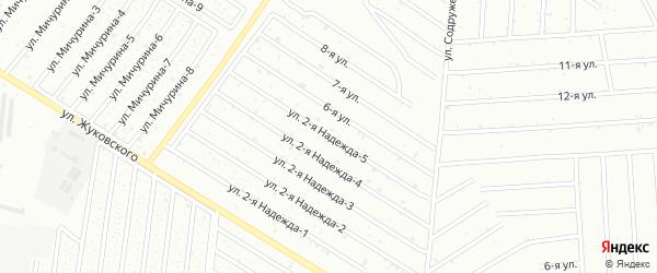 Улица 2 Надежда-5 на карте садового некоммерческого товарищества Надежда-2 с номерами домов