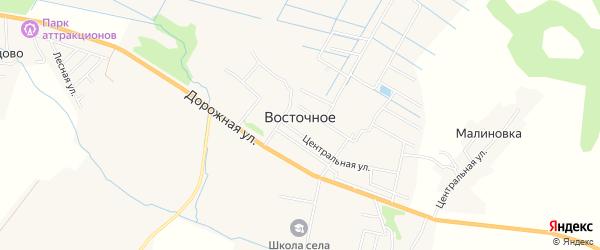 Территория СНТ Первоцвет на карте Восточного села Хабаровского края с номерами домов