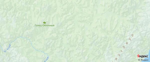 Карта Аяно-майского района Хабаровского края с городами и населенными пунктами