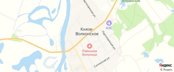 Карта Князе-Волконского села в Хабаровском крае с улицами и номерами домов