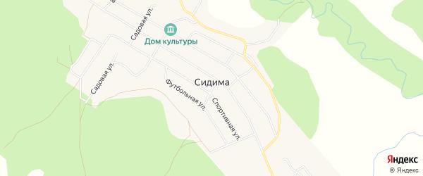 Карта поселка Сидимы в Хабаровском крае с улицами и номерами домов