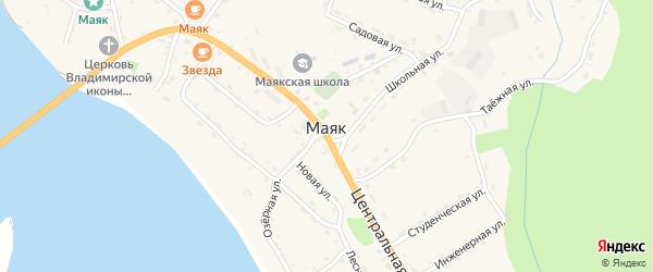 Комсомольская улица на карте села Маяка Хабаровского края с номерами домов
