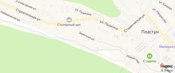 Заречная улица на карте поселка Пластуна Приморского края с номерами домов