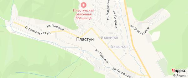Карта поселка Пластуна в Приморском крае с улицами и номерами домов