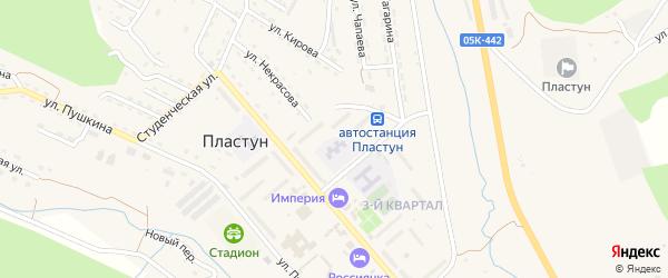1-й квартал на карте поселка Пластуна Приморского края с номерами домов