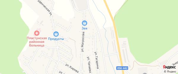 Ключевой переулок на карте поселка Пластуна Приморского края с номерами домов