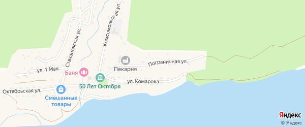 Пограничная улица на карте поселка Пластуна Приморского края с номерами домов