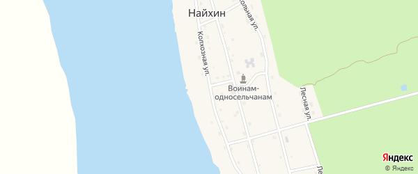 Колхозная улица на карте села Найхина Хабаровского края с номерами домов
