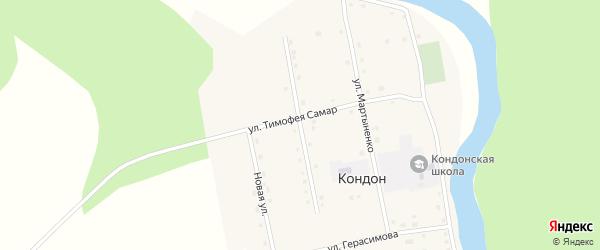 Улица Александра Наймука на карте села Кондона Хабаровского края с номерами домов