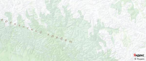 Карта Томпонского улуса Республики Якутии с городами и населенными пунктами