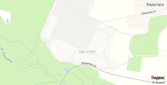 Карта поселка Старт в Комсомольске-на-Амуре с улицами, домами и почтовыми отделениями со спутника онлайн