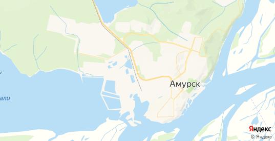 Карта Амурска с улицами и домами подробная. Показать со спутника номера домов онлайн