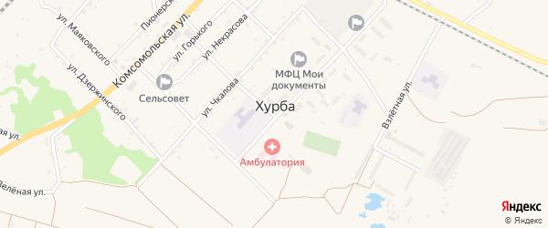 Территория Аэропорт на карте села Хурбы Хабаровского края с номерами домов