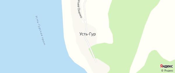 Улица Братьев Оненко на карте села Усть-Гур Хабаровского края с номерами домов