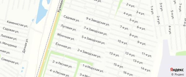 Карта поселка АО АСЗ-12 в Хабаровском крае с улицами и номерами домов