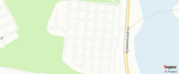 Улица 6 квартал 42 на карте территории Снт Металлурга-1 с номерами домов