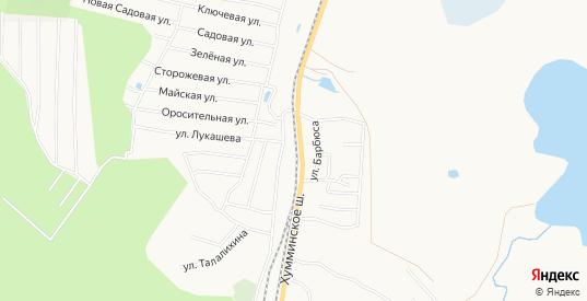 Карта территории Снт Хумми в Комсомольске-на-Амуре с улицами, домами и почтовыми отделениями со спутника онлайн