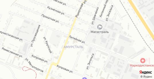 ГК Автомобилист ул Литейная территория в Комсомольске-на-Амуре с номерами домов на карте. Спутник и схема онлайн