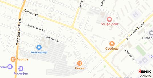 Цветочный переулок в Комсомольске-на-Амуре с номерами домов на карте. Спутник и схема онлайн