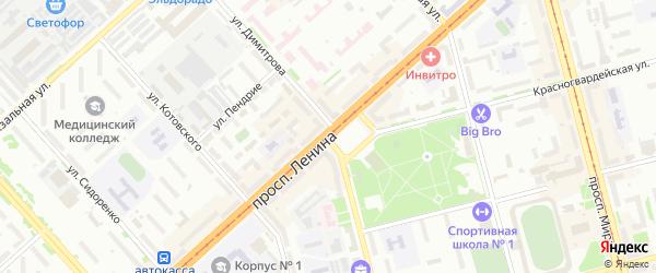 Улица 1 квартал 36 на карте территории Снт Металлурга-1 с номерами домов