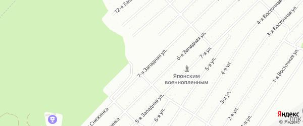 7-я Западная улица на карте территории СНТ Ключевого с номерами домов