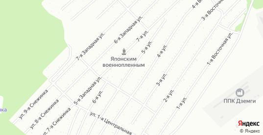 5-я улица в территории Снт Подгорный в Комсомольске-на-Амуре с номерами домов на карте. Спутник и схема онлайн