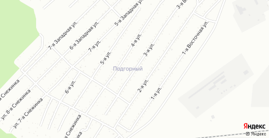 3-я улица в территории Снт Подгорный в Комсомольске-на-Амуре с номерами домов на карте. Спутник и схема онлайн
