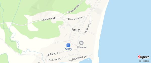 Карта села Амгу в Приморском крае с улицами и номерами домов
