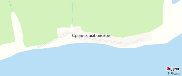 Набережная улица на карте Среднетамбовского села Хабаровского края с номерами домов