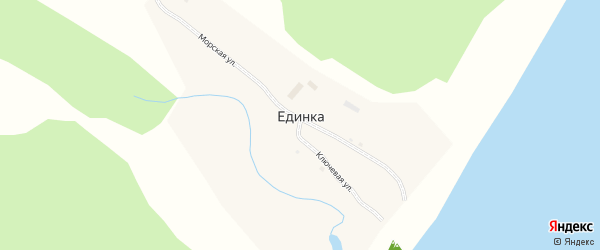 Морская улица на карте села Единки Приморского края с номерами домов
