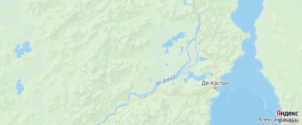 Карта Ульчского района Хабаровского края с городами и населенными пунктами