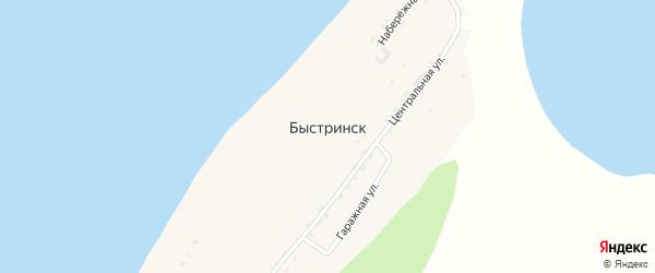Озерная улица на карте поселка Быстринска Хабаровского края с номерами домов