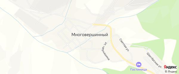 Карта Многовершинного поселка в Хабаровском крае с улицами и номерами домов