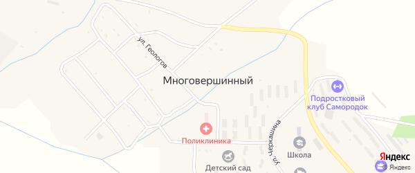 Школьная улица на карте Многовершинного поселка Хабаровского края с номерами домов