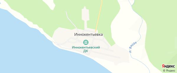 Карта села Иннокентьевки в Хабаровском крае с улицами и номерами домов