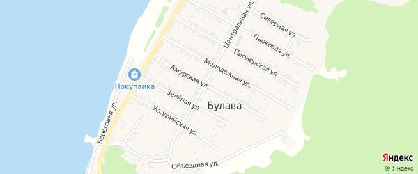 Амурская улица на карте села Булавы Хабаровского края с номерами домов