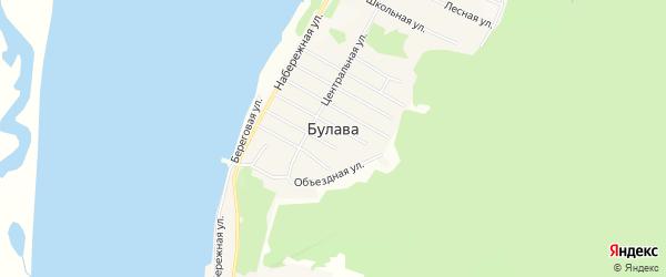 Карта села Булавы в Хабаровском крае с улицами и номерами домов