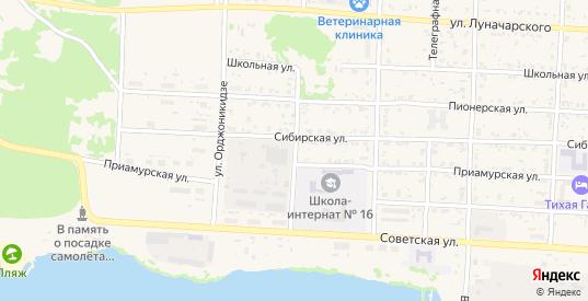 Благовещенская улица в Николаевске-на-Амуре с номерами домов на карте. Спутник и схема онлайн