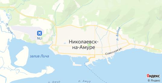 Карта Николаевска-на-Амуре с улицами и домами подробная. Показать со спутника номера домов онлайн