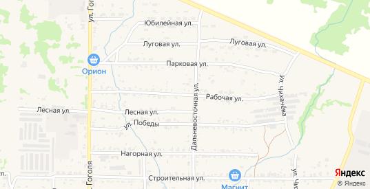 Рабочая улица в Николаевске-на-Амуре с номерами домов на карте. Спутник и схема онлайн
