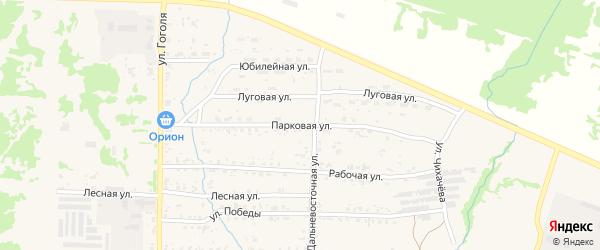 Парковая улица на карте Николаевска-на-Амуре с номерами домов