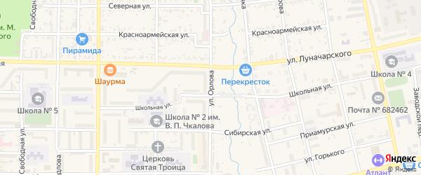 Улица Орлова на карте Николаевска-на-Амуре с номерами домов