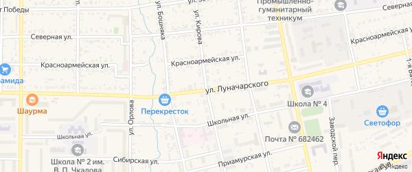 Улица Кирова на карте Николаевска-на-Амуре с номерами домов
