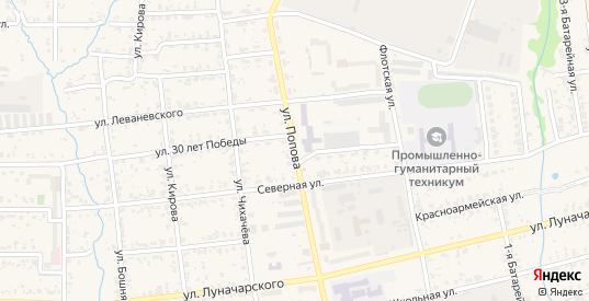 Улица Попова в Николаевске-на-Амуре с номерами домов на карте. Спутник и схема онлайн