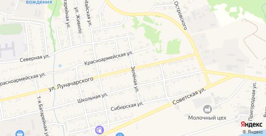 Зеленая улица в Николаевске-на-Амуре с номерами домов на карте. Спутник и схема онлайн