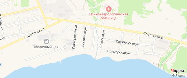 Артиллерийская улица на карте Николаевска-на-Амуре с номерами домов