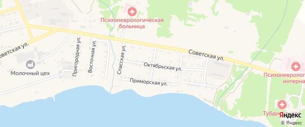 Волочаевская улица на карте Николаевска-на-Амуре с номерами домов