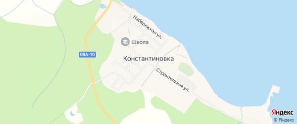Карта села Константиновки в Хабаровском крае с улицами и номерами домов